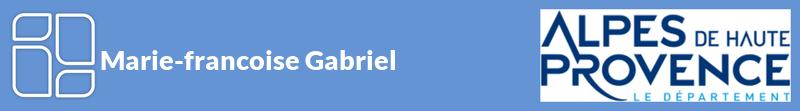 Marie-francoise Gabriel autoentrepreneur à CHATEAU-ARNOUX-SAINT-AUBAN