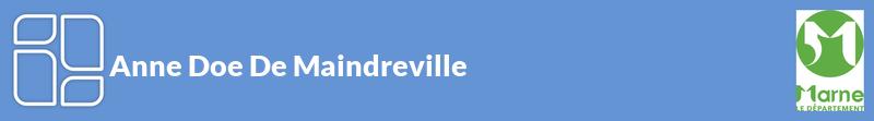 Anne Doe De Maindreville autoentrepreneur à REIMS