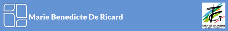 Marie Benedicte De Ricard autoentrepreneur à REALVILLE